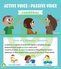 Teaching Resource: A 13 slide editable PowerPoint template to use when teaching your students about active voice and passive voice.