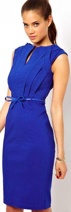 Paper Dolls Bandage Dress with Belt #blue #elegant #cocktail #dress