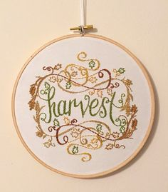 Harvest embroidery hoop Fall decor thanksgiving decoration