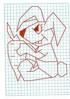 Graph Paper Art, Math Projects, Drawing For Kids, Easy Drawings, Motor Skills, Pixel Art, Art School, Grid, Blackwork