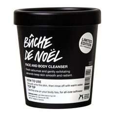 Bûche de Noël Face and Body Cleanser: Food for your face and body, with festive ingredients including satsumas, cranberries and a drop of brandy.