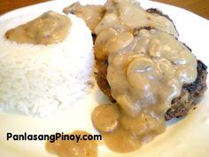 Jollibee Burger Steak recipe!