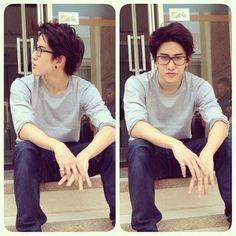 Some boys look more cute+cool in glasses...as mikey.. AoMike LAND!