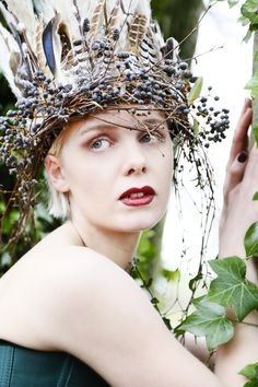 Keeper of the trees Pampas Grass, Dark Forest, Big Fish, Headdress, Make Up, Crowns, Birch, Feathers, Floral