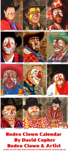 RODEO CLOWN CALENDAR