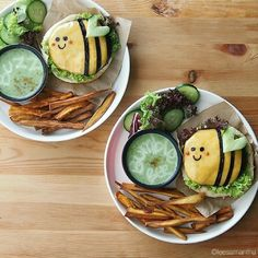 BumbleBee Burgers by leesamantha .. cute burger ..