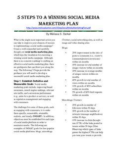 Social Media Comparison Chart  Biz Stuff    Business