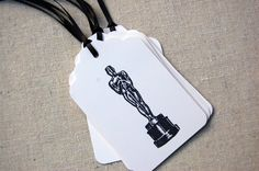 Oscar/ Academy Awards Party Gift Tags - via Etsy.