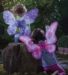 LED Twinkling Fairy Wings  @Jenny Buxton can I get these for Macy for Christmas?