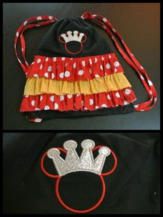 Minnie mouse Disney princess backpack drawstring by ThePrettyPiggy, $25.00