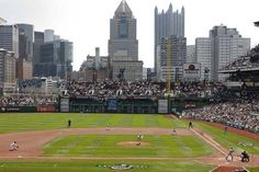 PNC Park, home to the Pittsburgh Pirates, #1 ballpark in the U.S. Seats angled toward the field, the best skyline view in sports, the best out-of-town scoreboard you'll see, the Roberto Clemente Bridge over the Allegheny, beautiful architecture, and uncommonly intimate feel, and the best sight lines of any ballpark. There's much to recommend the Pirates' home yard. Even the light towers look cool. As well, Pittsburgh is perhaps the most underrated city in the U.S.