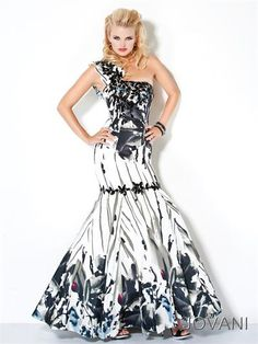 #Jovani 173316 One Shoulder, Mermaid, prom dress #prom #promdress #FormalApproach