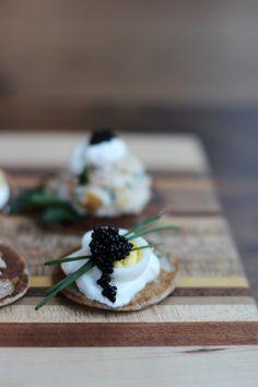 Buckwheat blinis with caviar and quail egg // HonestlyYUM #NYE