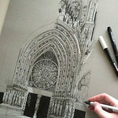 Want to start Sketching, Drawing, and Creating? **Click the image and get yourself a brand NEW Drawing Set. Architecture Antique, Architecture Drawings, Paris Architecture, Architecture Panel, Architecture Portfolio, Architecture Design, Painting Inspiration, Art Inspo, Urban Sketching