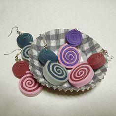 Lollipop orecchini in Moosgummi multicolor di BibidiCreazioni, €4,00