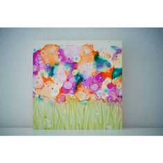 Wildflower Study Series ($55) ❤ liked on Polyvore featuring home, home decor, wall art, photo wall art, photography wall art, photo painting, water painting and water ink painting