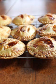 Individual salted caramel apple mini pies