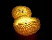 Glowing Nourishment Lamp Made From Plastic Bottles by Carolyn Joan Lau