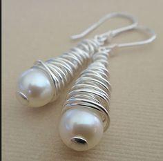 Pearl wrap earrings