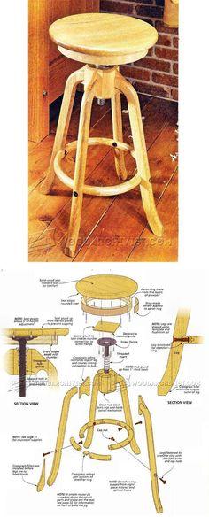 Shop Stool Plans - Workshop Solutions Plans, Tips and Tricks | WoodArchivist.com