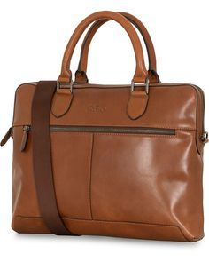 Oscar Jacobson Leather Computerbag Midbrown 2b84ce56a7bb2