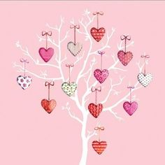 Tree of Hearts greetings card from Phoenix Trading £1.75 each or £1.40 when buying 10 or more.  anniversary, valentines, engagement, wedding