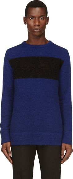 Costume National - Blue & Black Mohair Sweater