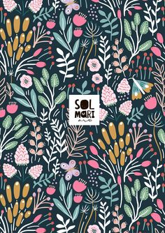 In the summer garden collection by solamriart. Floral pattern, berries Summer Garden, Berries, Floral, Pattern, Collection, Flowers, Patterns, Bury, Model