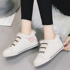 #BFCM #BlackFriday #CyberMonday #TideBuy - #TideBuy PU Stripe Slip-On Purfle Womens Warm Shoes - AdoreWe.com