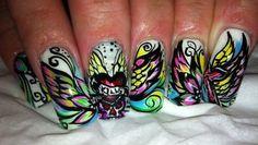 Nail art from the NAILS Magazine Nail Art Gallery, hand-painted, Creative Nail Designs, Creative Nails, Nail Art Designs, Fancy Nail Art, Cool Nail Art, Great Nails, Simple Nails, City Nails, Nail Tattoo