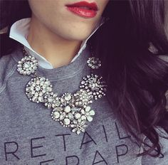 ILY COUTURE necklace and sweatshirt on My Fash Avenue Instagram