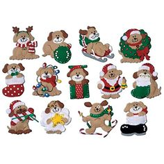 Design Work Felt Applique kit  Lotsa Puppies 13 Ornaments ** Check out the image by visiting the affiliate link Amazon.com on image.