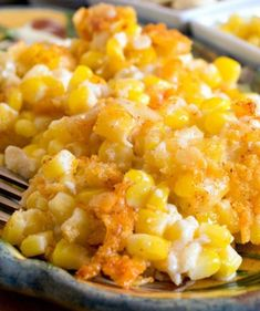 Nantucket Corn Pudding - A creamy corn casserole topped with a buttery, cheesy cracker crust. From a Family Feast Corn Pudding Recipes, Corn Recipes, Side Dish Recipes, Vegetable Recipes, Best Thanksgiving Recipes, Thanksgiving Sides, Thanksgiving Vegetables, Thanksgiving Treats, Creamy Corn Casserole