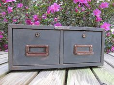 Vintage 2 Drawer Card Catalog Vintage by ShayesChicDecorNMore