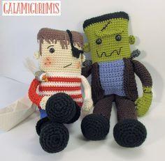 Just an idea pattern is in spanish Halloween Crochet Patterns, Crochet Dolls Free Patterns, Amigurumi Patterns, Amigurumi Doll, Doll Patterns, Crochet Baby Toys, Crochet Gifts, Cute Crochet, Crochet Doll Tutorial