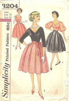 Simplicity 3204: mix and match two-piece dress