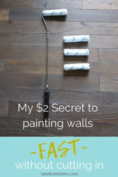 My 2 Secret to Painting Walls Fast My 2 Secret to Painting Walls Fast The best paint roller for wallsI never would 39 ve thought the solution to my problem would be so simple Painting Walls Tips, Diy Wall Painting, Painting Hacks, How To Paint Walls, Painted Walls, Best Wall Paint, Painting Trim, Interior Painting, Painting Cabinets
