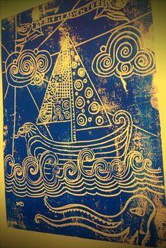 printmaking Mixed Media Art, Art Journals and Dreamcatchers by Karen MichelMixed Media Art, Art Journals and Dreamcatchers by Karen Michel Kids Printmaking, Atelier D Art, 5th Grade Art, Ecole Art, Art Graphique, Tampons, Art Lesson Plans, Art Classroom, Art Plastique