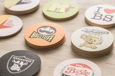 25 Beautifully Designed Beer Mats & Coasters — BP&O Soul Food Restaurant, Restaurant Branding, Packaging Design, Branding Design, Table Coasters, Beer Mats, Mr Big, Pubs And Restaurants, Coaster Design