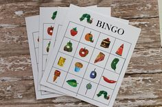 PDF files BINGO Hungry Caterpillar game cards by DesignsbyPurcell