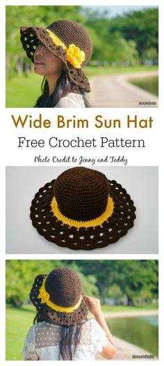 e0381884c52 Cappuccino Frappe Wide Brim Sun Hat Free Crochet Pattern   freecrochetpatterns  hat Háčkování Zdarma