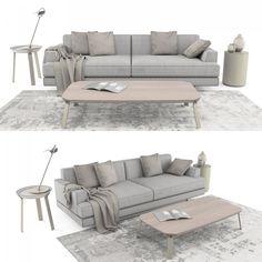 Sofa Set1 3D Model | Download Royalty Free Interior Furniture 3D Models - 3D Squirrel