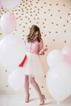 Space 46 tulle skirt, Ruby Girl blog, birthday outfit, Valentine's photoshoot