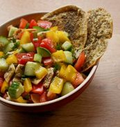 Savor the flavors of the Mediterranean with Daniel Wright's fresh fattoush salad.