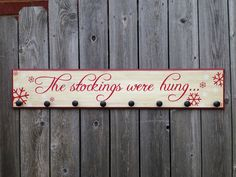 The Stockings Were Hung-WOOD SIGN-Christmas Stocking Hanger Home Decor by Fillintheblankspaces on Etsy