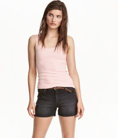e462e1d85ca65 Tank top in soft ribbed jersey made from organic cotton