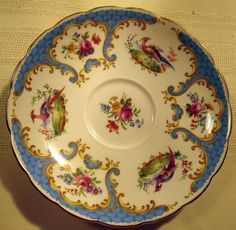 Grosvenor China Rutland Series Bird Pheasant Floral TEA CUP Saucer | eBay