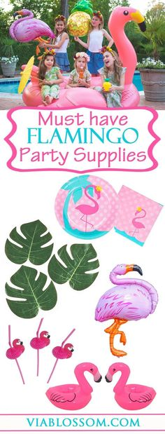 You will die over our Must have Flamingo Party ideas and decorations!!! Our Flamingo Party Supplies will help you throw the coolest Summer Party!