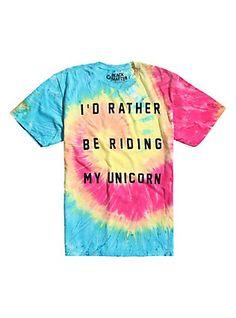 Ride A Unicorn Tie Dye T-Shirt, TIE DYE