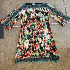 Calvin Klein Tunic Dress (Abstract) SZ S Calvin Klein Tunic Dress SZ SMALL Calvin Klein Dresses Midi